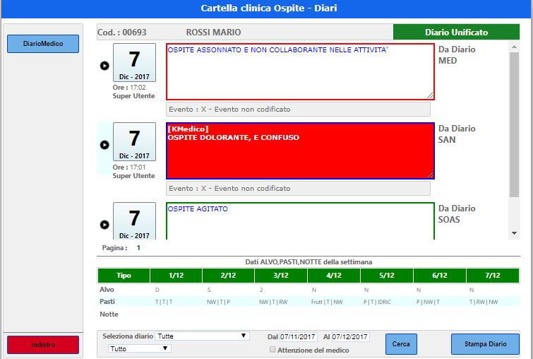 abc web schermata cartella clinica gestionale strutture socio sanitarie